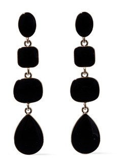 Kenneth Jay Lane Woman Gold-tone Stone Earrings Black