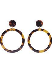 Kenneth Jay Lane Woman Gold-tone Tortoiseshell Resin Hoop Earrings Animal Print