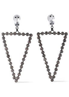 Kenneth Jay Lane Woman Gunmetal-tone Crystal Earrings Silver