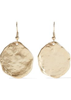 Kenneth Jay Lane Woman Hammered 22-karat Gold-plated Earrings Gold