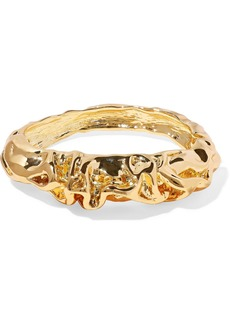 Kenneth Jay Lane Woman Hammered Gold-plated Bangle Gold