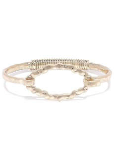 Kenneth Jay Lane Woman Hammered 22-karat Gold-plated Bangle Gold
