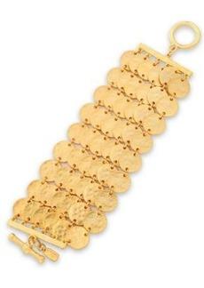 Kenneth Jay Lane Woman Hammered Gold-tone Bracelet Gold
