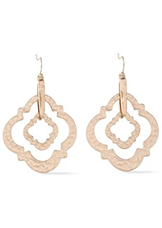Kenneth Jay Lane Woman Hammered Gold-plated Earrings Gold
