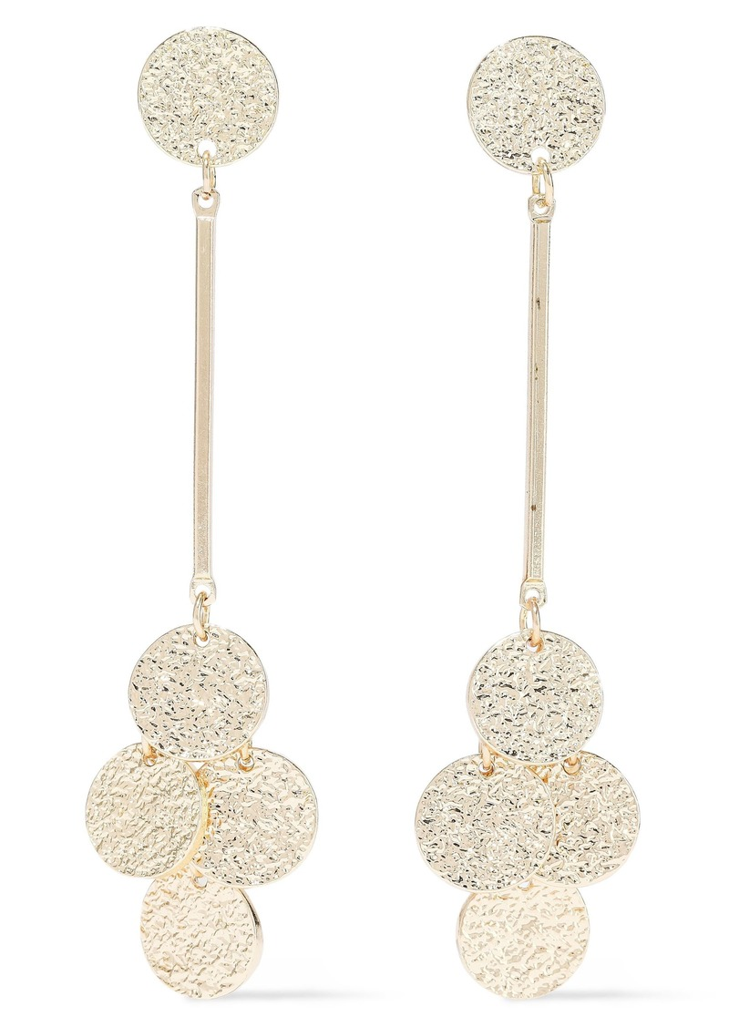 Kenneth Jay Lane Woman Hammered Gold-tone Earrings Gold