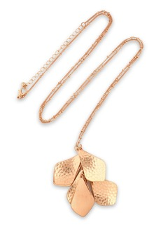 Kenneth Jay Lane Woman Hammered Gold-tone Necklace Gold