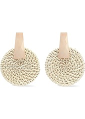 Kenneth Jay Lane Woman Resin And Rattan Earrings Ivory