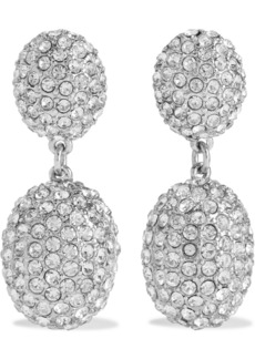Kenneth Jay Lane Woman Rhodium-plated Crystal Clip Earrings Silver
