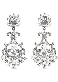 Kenneth Jay Lane Woman Rhodium-plated Crystal Earrings Silver