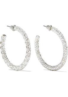 Kenneth Jay Lane Woman Rhodium-plated Crystal Hoop Earrings Silver