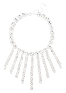 Kenneth Jay Lane Woman Rhodium-plated Crystal Necklace Silver