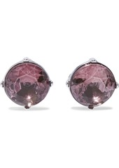 Kenneth Jay Lane Woman Silver-tone Crystal Clip Earrings Silver
