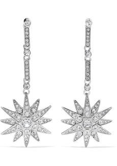 Kenneth Jay Lane Woman Silver-tone Crystal Earrings Silver