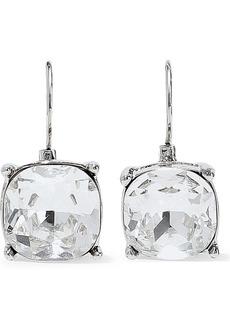 Kenneth Jay Lane Woman Silver-tone Crystal Earrings Silver