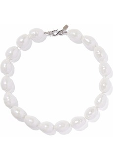 Kenneth Jay Lane Woman Silver-tone Faux Pearl Necklace White