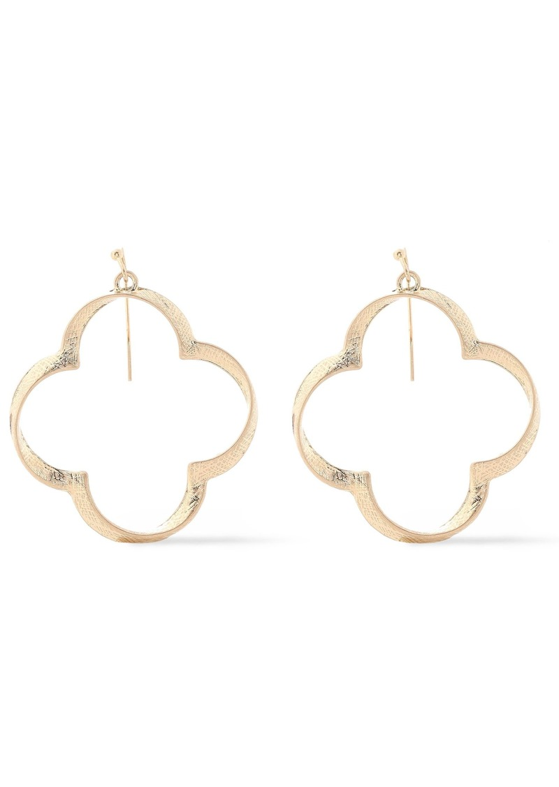 Kenneth Jay Lane Woman Textured Gold-plated Earrings Gold