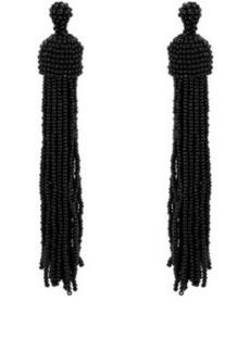 Kenneth Jay Lane Women's Beaded Tassel Earrings