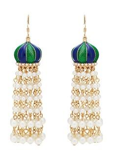 Kenneth Jay Lane Women's Beaded Tasseled Drop Earrings - Gold