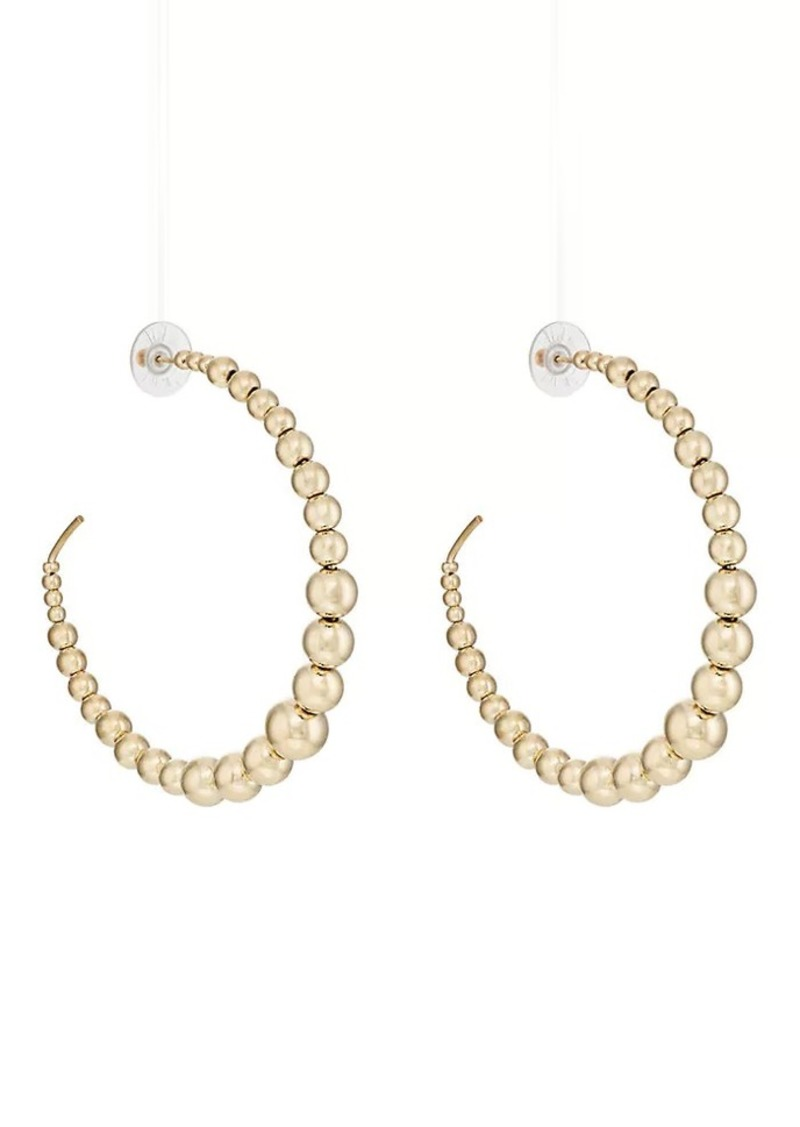 Kenneth Jay Lane Kenneth Jay Lane Women\'s Beaded Wire Hoop Earrings ...