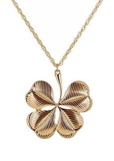 Kenneth Jay Lane Women's Clover Pendant Necklace