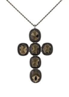 Kenneth Jay Lane Women's Cross Pendant Necklace