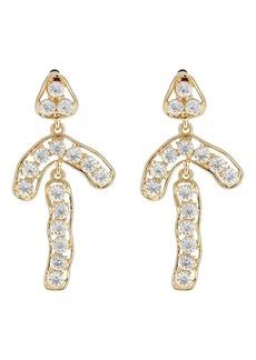 Kenneth Jay Lane Women's Crystal-Embellished Drop Earrings - Gold