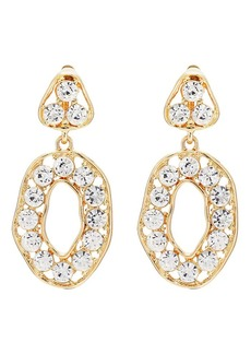 Kenneth Jay Lane Women's Crystal-Embellished Drop Earrings - Gold