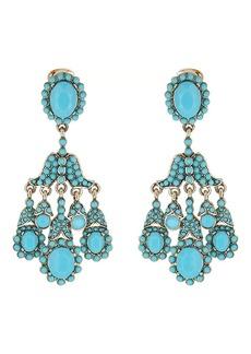 Kenneth Jay Lane Women's Double-Drop Chandelier Earrings
