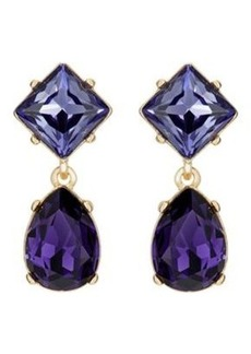 Kenneth Jay Lane Women's Double-Drop Earrings