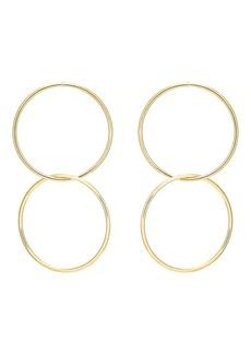 Kenneth Jay Lane Women's Double-Drop Entwined-Hoop Earrings