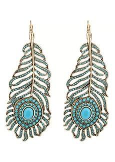 Kenneth Jay Lane Women's Feather-Shaped Drop Earrings