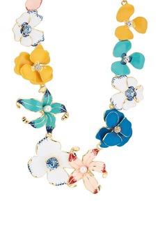 Kenneth Jay Lane Women's Flower Necklace - Gold