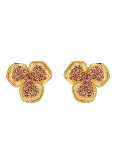Kenneth Jay Lane Women's Flower Stud Earrings - Gold
