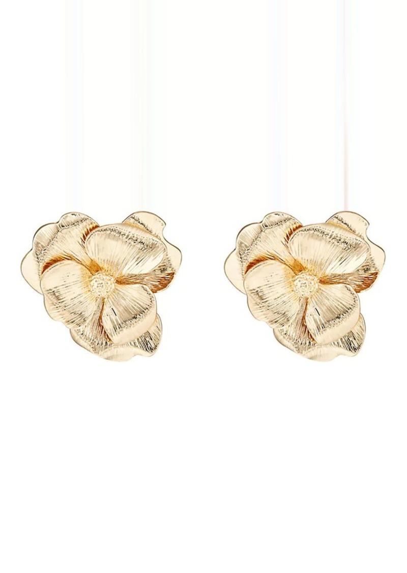 Kenneth Jay Lane Women S Flower Stud Earrings Gold Now 36 00