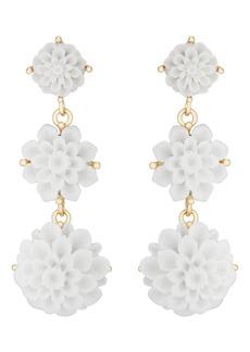 Kenneth Jay Lane Women's Flower Triple-Drop Earrings - Gold