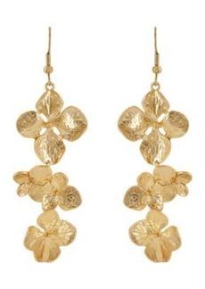 Kenneth Jay Lane Women's Flower Triple-Drop Earrings