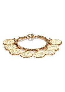 Kenneth Jay Lane Women's Hammered Coin Bracelet
