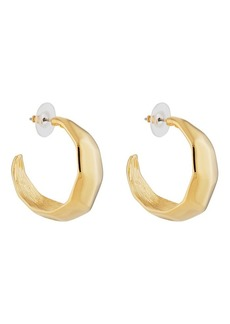 c36e94c0c68f47 Kenneth Jay Lane Women's Hammered Hoop Earrings - Gold