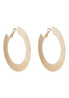 Kenneth Jay Lane Women's Hammered Hoop Earrings