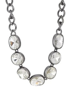 Kenneth Jay Lane Women's Headlight Necklace - Gunmetal