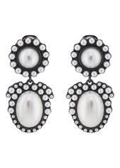 Kenneth Jay Lane Women's Imitation-Pearl Clip-On Earrings - Gold