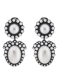 Kenneth Jay Lane Women's Imitation-Pearl Clip-On Earrings - Gold