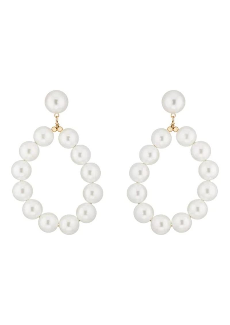 Kenneth Jay Lane Women S Imitation Pearl Drop Earrings