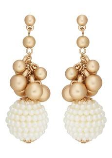 Kenneth Jay Lane Women's Imitation-Pearl-Embellished Drop Earrings