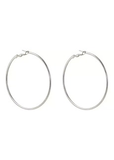 Kenneth Jay Lane Women's Large Hoop Earrings
