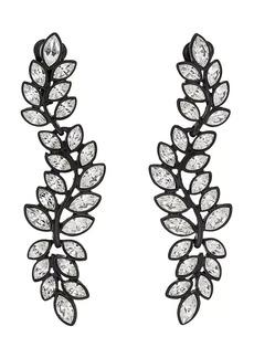 Kenneth Jay Lane Women's Leaf-Shaped Triple-Drop Earrings