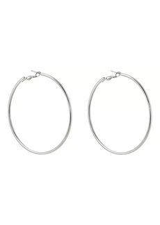 Kenneth Jay Lane Women's Medium Hoop Earrings