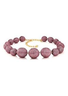 Kenneth Jay Lane Women's Metallic Sphere Necklace