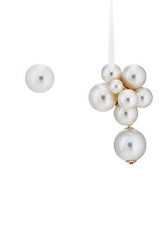 Kenneth Jay Lane Women's Mismatched Drop Earrings - Gold