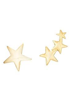 Kenneth Jay Lane Women's Mismatched Star Earrings